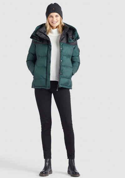 khujo Steppjacke »ADANE« stylische Winterjacke mit abnehmbarer großer Kapuze