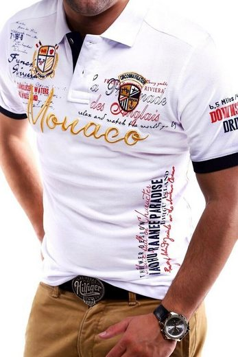 behype Poloshirt »MONACO« in Piqué-Qualität