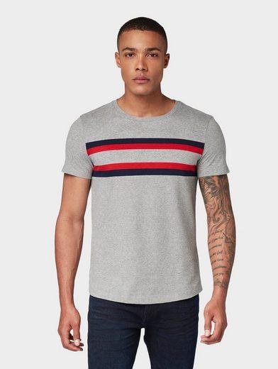 TOM TAILOR Denim T-Shirt »T-Shirt mit Streifen«