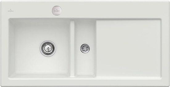 Villeroy & Boch Küchenspüle »Subway 60«, rechteckig, aus Keramik, inkl. Ablaufgarnitur mit Excenterbetätigung, 1000 x 510 mm