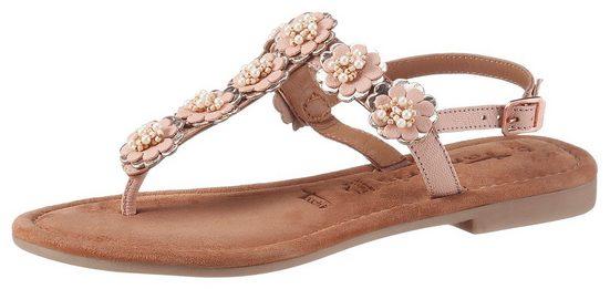 Tamaris »MINU« Sandale mit schönen Blüten verziert