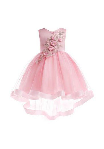 TOPMELON Partykleid »Blumenmädchenkleid« ärmellos, Chiffon, gestickt, Schwalbenschwanzrock