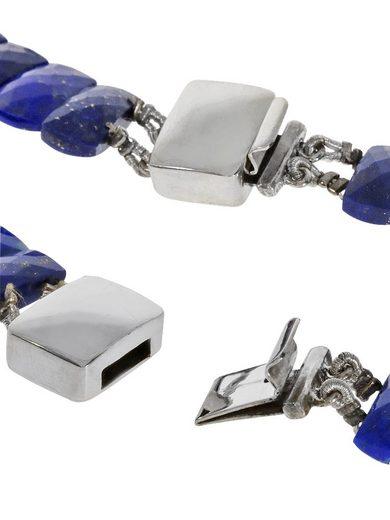 Adelia´s Kette ohne Anhänger »Lapis Halskette 925 Silber 44 cm«