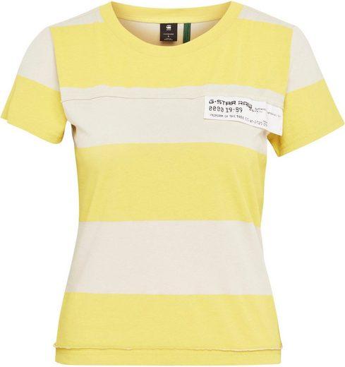 G-Star RAW Poloshirt »Slim Fit Wide Stripe T-Shirt« mit horizontalen Streifenmuster