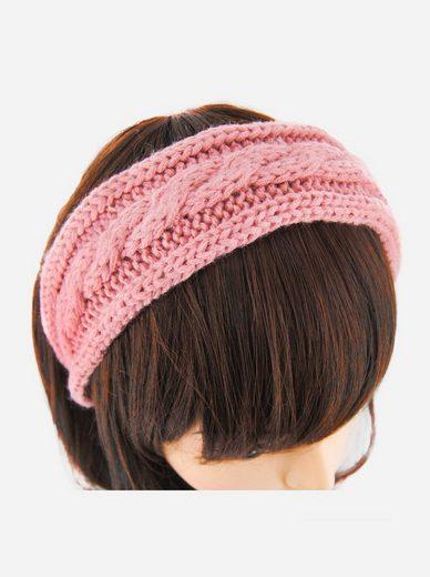 axy Haarreif »Breiter Haarreif mit Strickoptik«, Damen Breiter Haarreif in Strickoptik Haarband Haarreifen