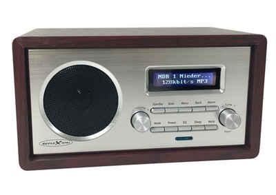 Reflexion »HRA1260i« Internet-Radio (Internetradio, 24,00 W, UKW- und Internetradio WLAN im Retro-Design mit Radiowecker (DLNA fähig, AUX-Eingang, Kopfhöreranschluss)
