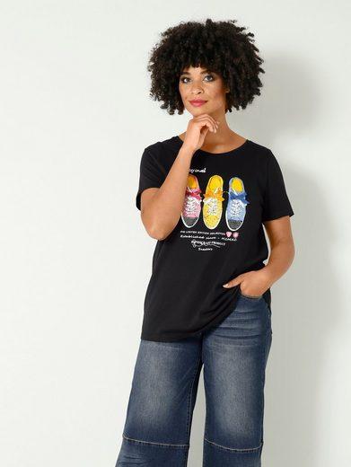 Angel of Style by HAPPYsize Rundhalsshirt mit Sneaker-Motiv