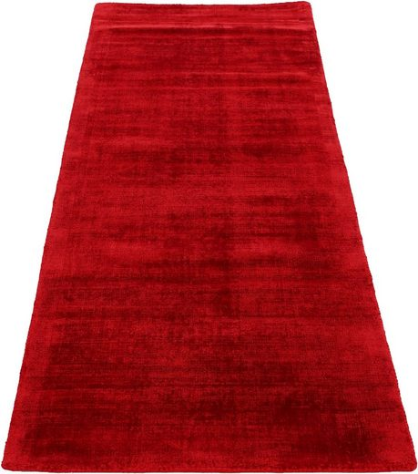 Läufer »Ava«, carpetfine, rechteckig, Höhe 13 mm, Viskoseteppich, Seidenoptik