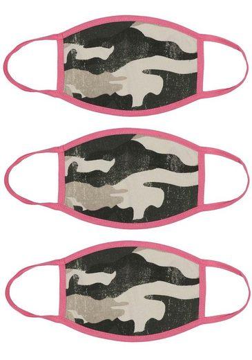 Zwillingsherz Mund-Nasen-Masken, (Packung, 3-tlg)