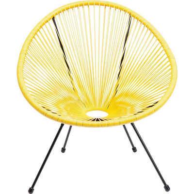 KARE Sessel »Sessel Acapulco Gelb«, Gestell: Stahl pulverbeschichtet, Sitzschale: Polyethylen