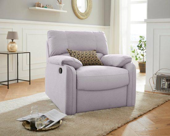 exxpo - sofa fashion Relaxsessel, Wellenunterfederung und Schaumstoff