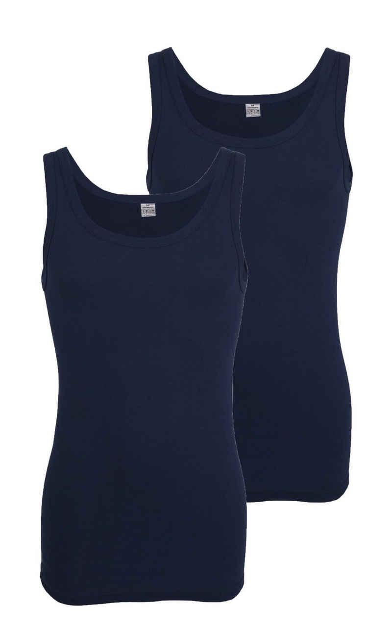 GÖTZBURG Unterhemd »Götzburg Doppelpack Unterhemd Feinripp« (2 Stück), Feinripp Qualität