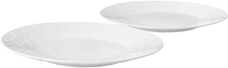 Joop! Speiseteller »JOOP! FADED CORNFLOWER«, (2 Stück), hochwertiges Porzellan mit Kornblumen-Verlauf als Dekor, Ø 28 cm