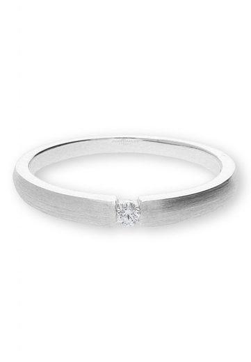JuwelmaLux Verlobungsring »Ring Weißgold mit Diamant(en)« (1-tlg), Damen Ring Weißgold 585/000, inkl. Schmuckschachtel