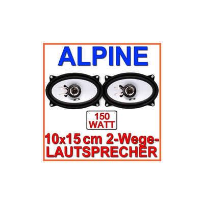 ALPINE Multiroom-Lautsprecher (Alpine SXE-4625S - 4x6 Koax-System)