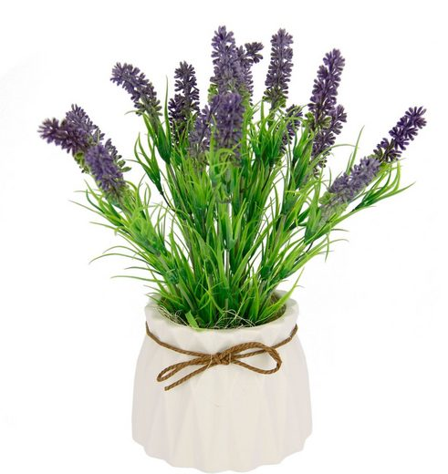 Kunstpflanze »Lavendel«, I.GE.A., Höhe 27 cm, Im Keramiktopf
