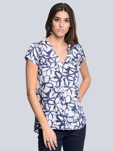 Alba Moda Bluse femininer, floraler Print