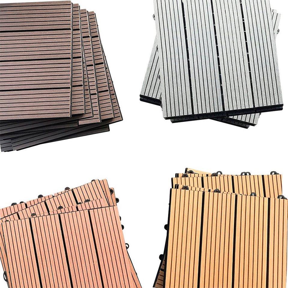 HOME DELUXE Terrassenplatten 30x30 cm 165 St WPC