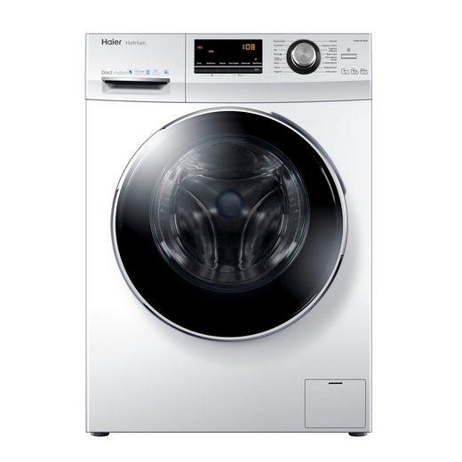 Haier Waschmaschine HW80-B14636 A+++, 8 kg, 1400 U/Min, Direct Motion Motor Vollwasserschutz Schontrommel aus Edelstahl