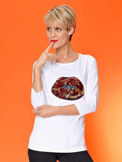 Laura Kent Shirt mit Wendepailletten