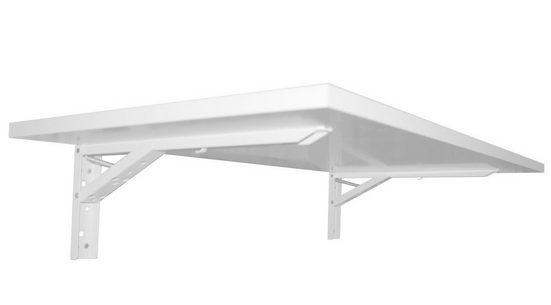 KDR Produktgestaltung Klapptisch »Wandklapptisch Esstisch Schreibtisch Küchentisch Tischplatte klappbar«, Weiß