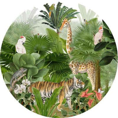 """anna wand Wandsticker »""""Dot with a view Dschungel"""" rund XL - Stoff Wandtattoo Kinderzimmer Deko«, selbstklebend"""