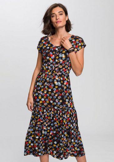 Boysen's Jerseykleid Mit süßem Druck und Volantrock