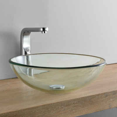 neu.haus Aufsatzwaschbecken, »Brevik« Waschbecken aus Glas rund