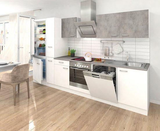 RESPEKTA Küchenzeile mit E-Geräten , Breite 310 cm