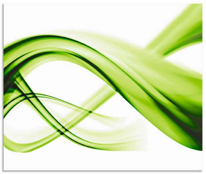 Artland Küchenrückwand »Abstrakte Komposition«, (1-tlg), selbstklebend in vielen Größen - Spritzschutz Küche hinter Herd u. Spüle als Wandschutz vor Fett, Wasser u. Schmutz - Rückwand, Wandverkleidung aus Alu