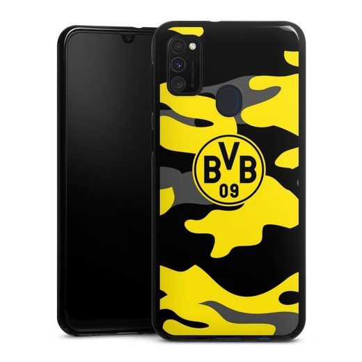 DeinDesign Handyhülle »BVB Camo« Samsung Galaxy M21, Hülle BVB Borussia Dortmund Fanartikel
