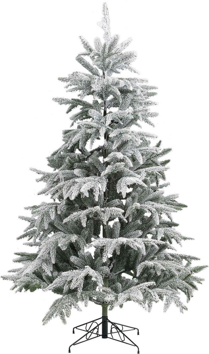 my home Künstlicher Weihnachtsbaum, Edeltanne, mit Schnee, inkl. Metallständer