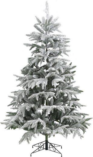 Home affaire Künstlicher Weihnachtsbaum, Edeltanne, mit Schnee, inkl. Metallständer