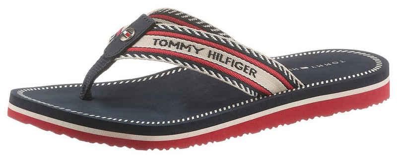 Tommy Hilfiger »TH ARTISANAL FLAT BEACH SANDAL« Zehentrenner mit Farb-Akzenten