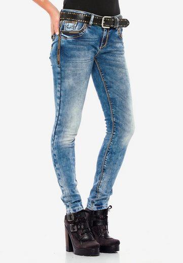 Cipo & Baxx Slim-fit-Jeans »WD380« in bequemem Slim Fit-Schnitt