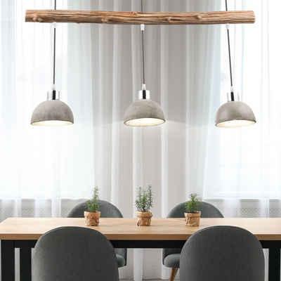 etc-shop Hängeleuchte, Design Pendel Decken Lampe Ess Zimmer Beton Strahler Holz Küchen Beleuchtung