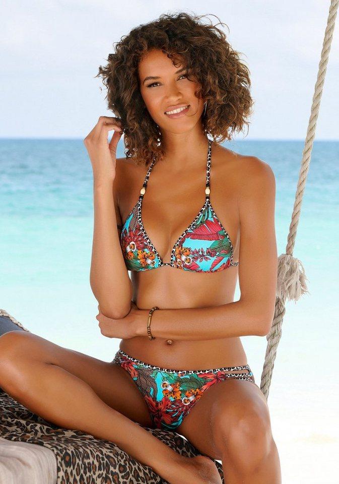 Bademode - Bruno Banani Triangel Bikini mit Mustermix und Zierperlen ›  - Onlineshop OTTO
