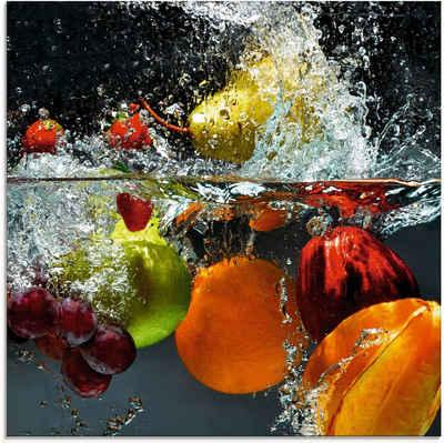 Artland Glasbild »Spritzendes Obst auf dem Wasser«, Lebensmittel (1 Stück)