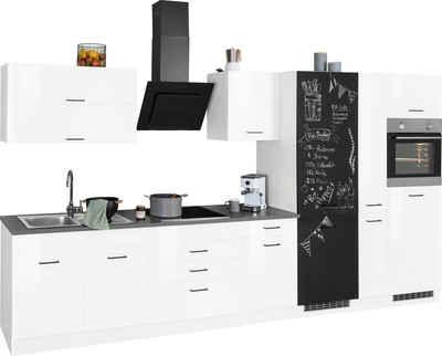 HELD MÖBEL Küchenzeile »Trier«, ohne E-Geräte, Breite 380 cm