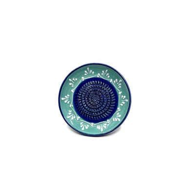 Kaladia Multireibe »Reibeteller in türkis und blau«, Keramik, handbemalte Küchenreibe - Made in Spain