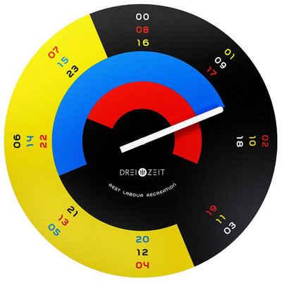 ONZENO Wanduhr »THE EFFECTIVE.« (handgefertigte Design-Uhr)