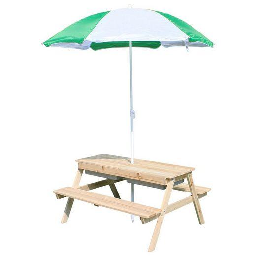 Coemo Spieltisch, Picknicktisch Edi mit Sonnenschirm