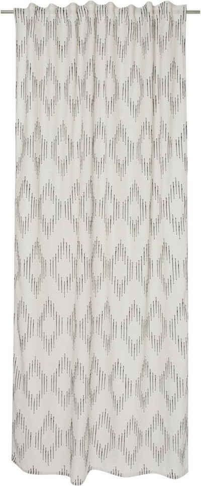 Vorhang »Ethno Zag«, TOM TAILOR, verdeckte Schlaufen (1 Stück), halbtransparent