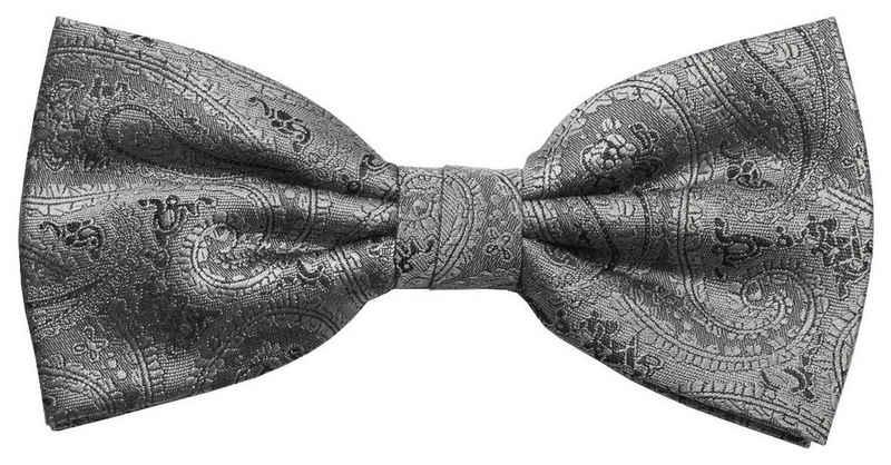 Paul Malone Fliege »Herren Schleife modern elegant festlich paisley Hochzeit« Fliege-V30 (mit Karton), silber grau