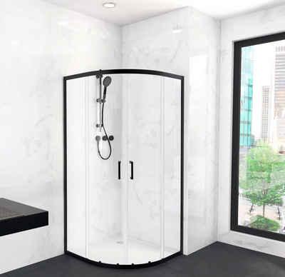 Marwell Eckdusche »CITY«, BxT: 90x90 cm, Sicherheitsglas, Schiebetür mit doppelten Leichtlaufrollen