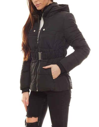 Melrose Steppjacke »melrose Winter-Jacke leicht wattierte Damen Stepp-Jacke mit breiten Taillengürtel Herbst-Gürtel Schwarz«