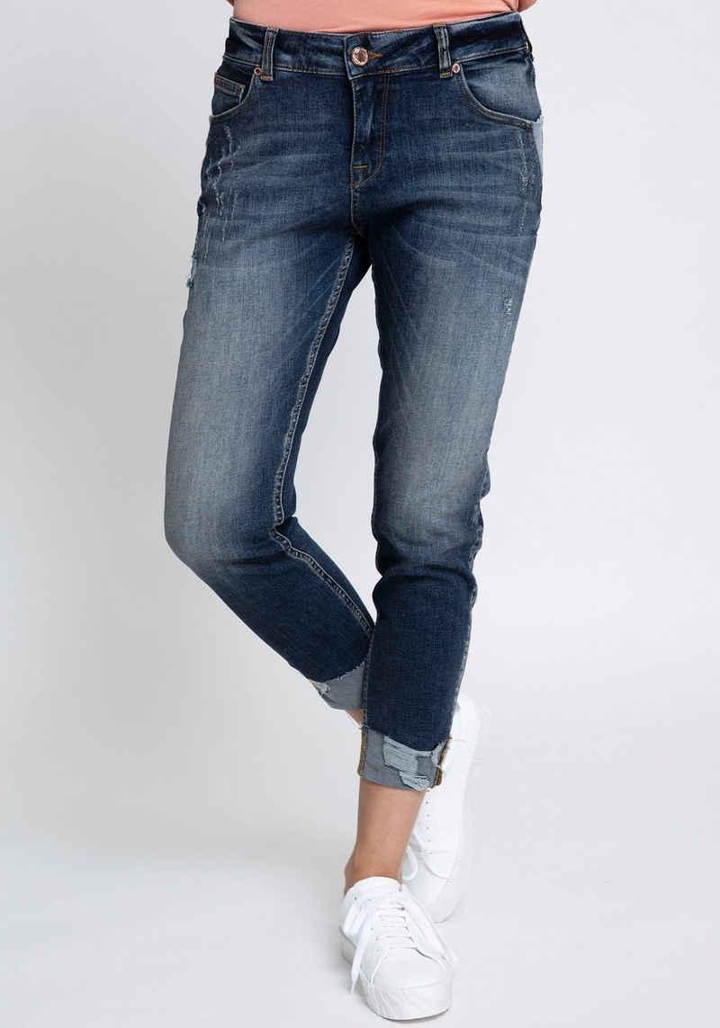 Zhrill 7/8-Jeans »NOVA« mit Kontrast Details, zum Krempeln