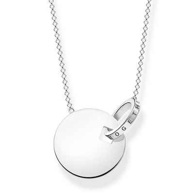 THOMAS SABO Kette mit Anhänger »KE1948-637-21 Halskette-Anhänger Together Coin-Ring Silber«