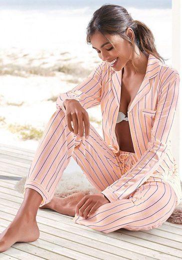 s.Oliver Bodywear Pyjama im klassischen Streifen-design