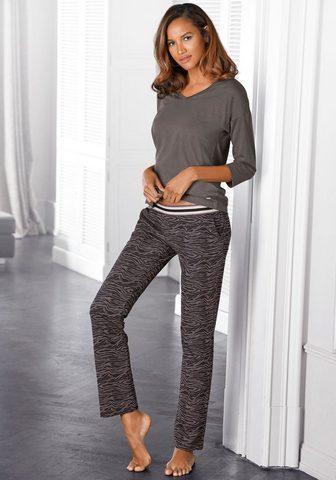 s.Oliver Bodywear Pižama lange kelnės su Animal-Print